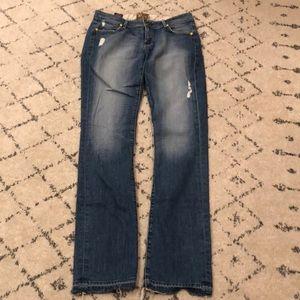 Rich & Skinny distressed Straight Leg Jean